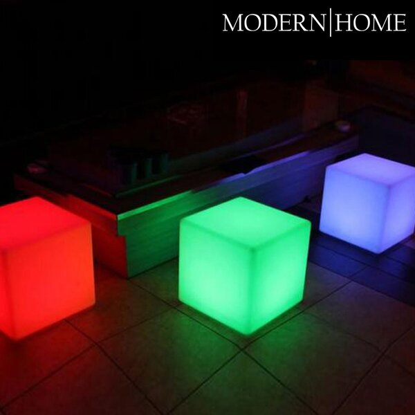Modern Home LED Glowing Cube Box Stool by Vandue Corporation