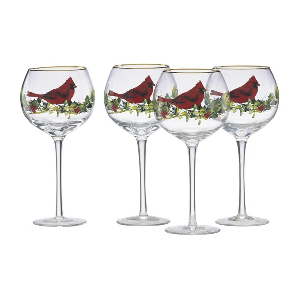 Winter Greetings® Cardinal 12 oz. All Purpose Wine Glass (Set of 4) by Lenox