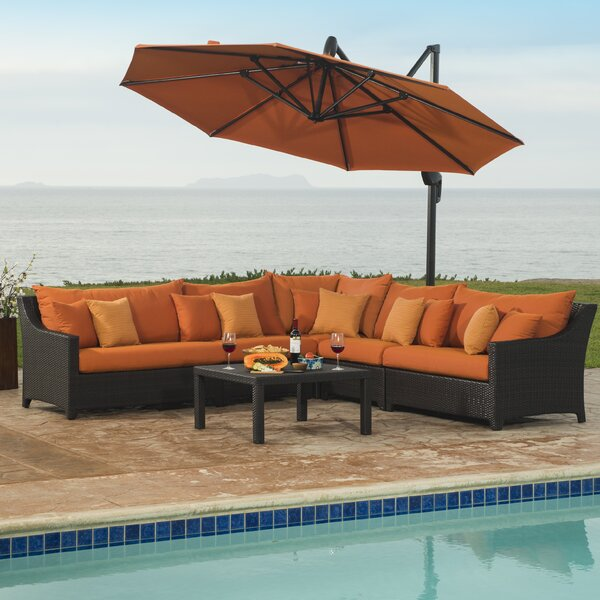 Northridge 6 Piece Sectional Set with Cushions by Three Posts