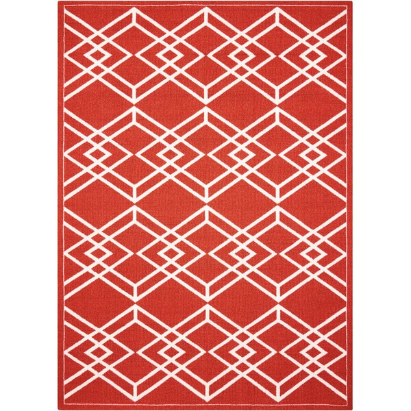 Felty Paprika Area Rug by Ivy Bronx