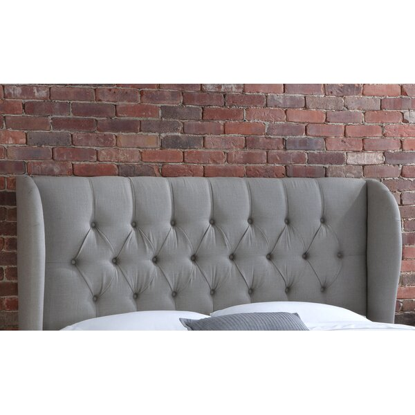 Stowmarket Tufted Diamond Upholstered Wingback Headboard by House of Hampton