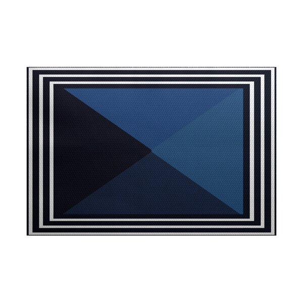 Bartow Blue Indoor/Outdoor Area Rug by Breakwater Bay