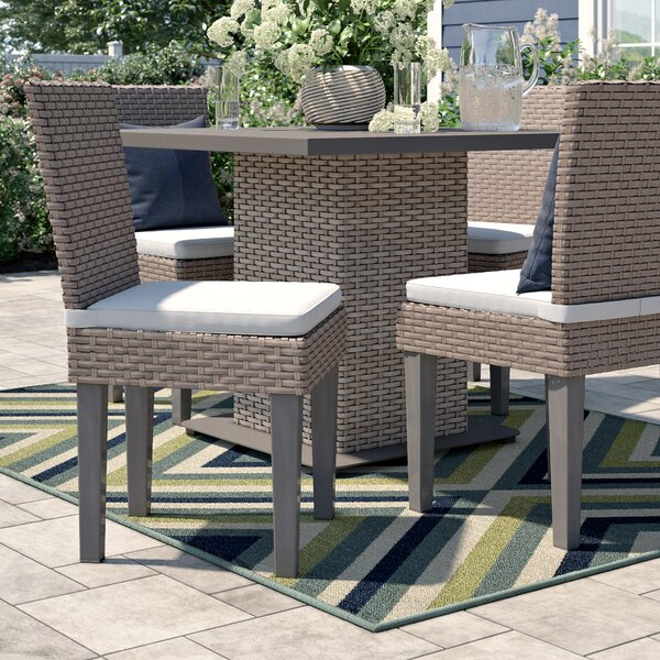 Rockport Patio Dining Chair with Cushion (Set of 4) by Sol 72 Outdoor Sol 72 Outdoor