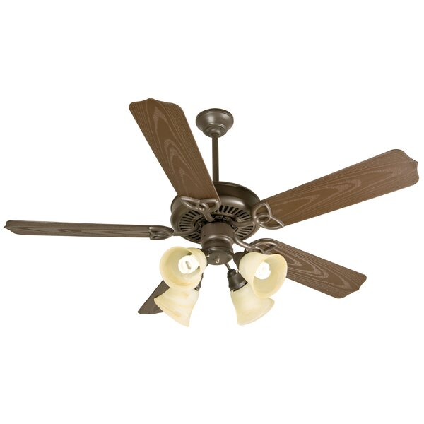 52 Mortensen 5 Blade Traditional Outdoor Ceiling Fan by Alcott Hill