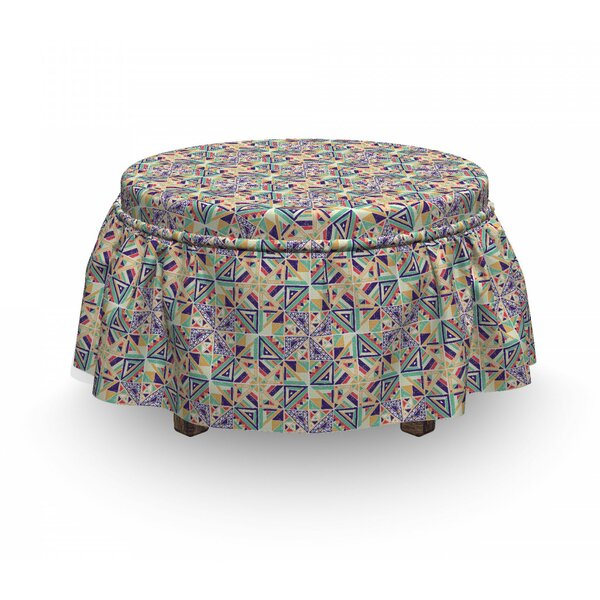 Energetic Ornament Ottoman Slipcover (Set Of 2) By East Urban Home