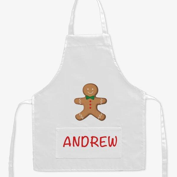 Gingerbread Custom Kid Apron by Monogramonline Inc.