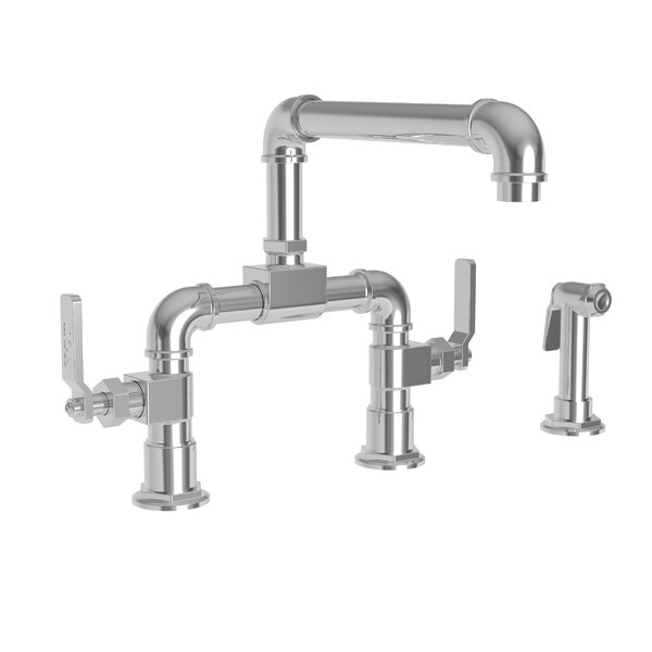 Duncan Kitchen Bridge Faucet With Side Spray By Newport Brass