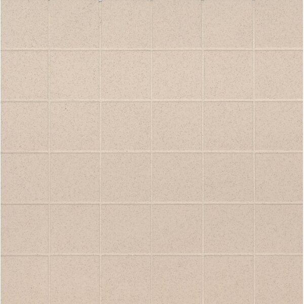 Optima Mesh-Mounted 2 x 2 Porcelain Mosaic Tile in Beige by MSI