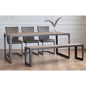 Evie Dining Set With 3 Chairs And 1 Bench