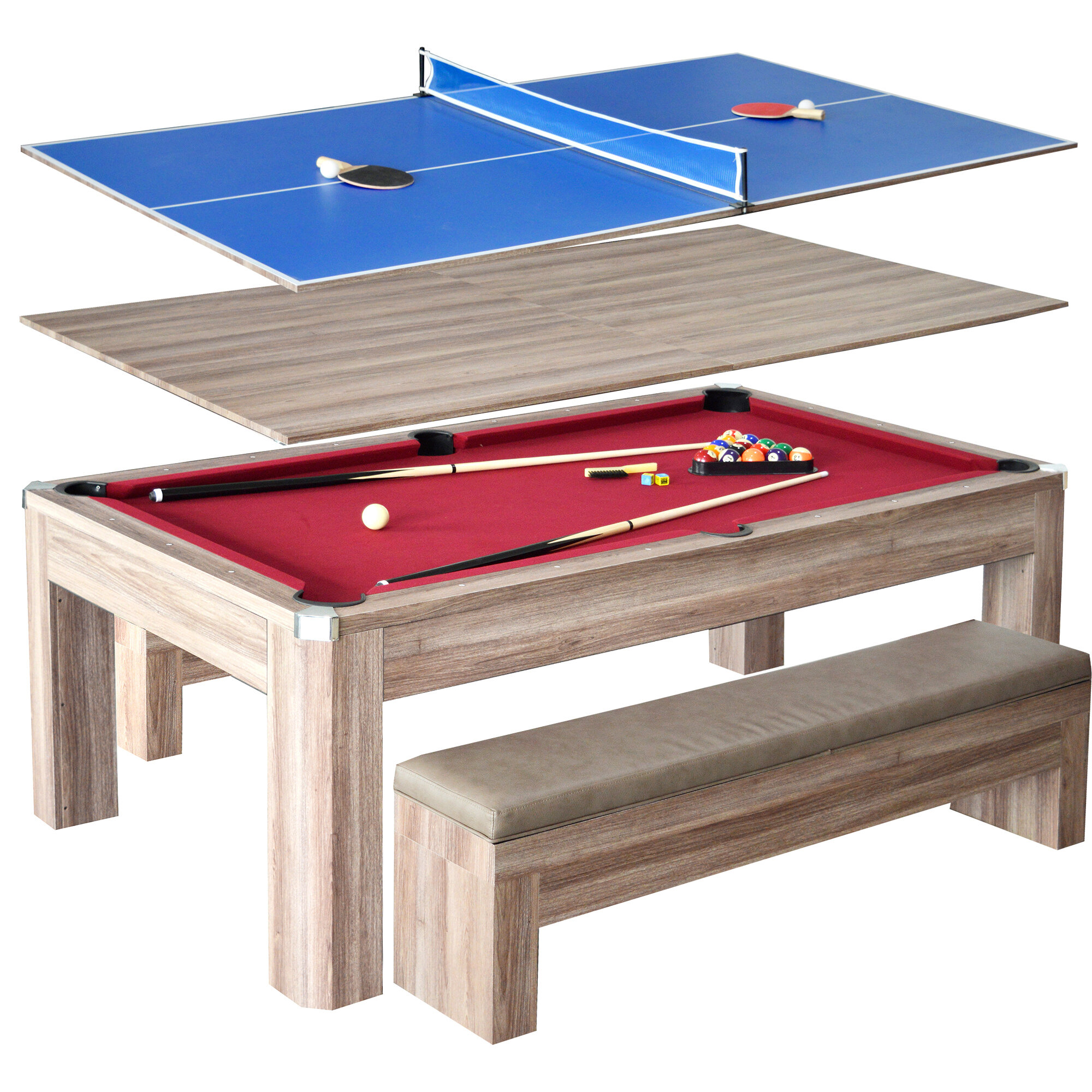 Hathaway Games Newport 7u0027 Rotating Game Table U0026 Reviews | Wayfair