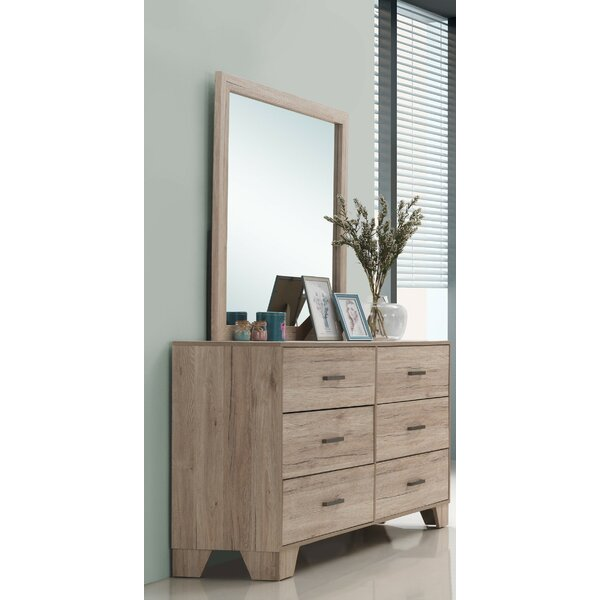 Hillsg 6 Drawer Dresser with Mirror by Wrought Studio