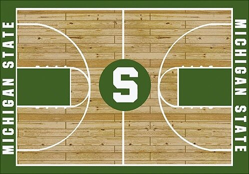 NCAA College Home Court Michigan State Novelty Rug by My Team by Milliken
