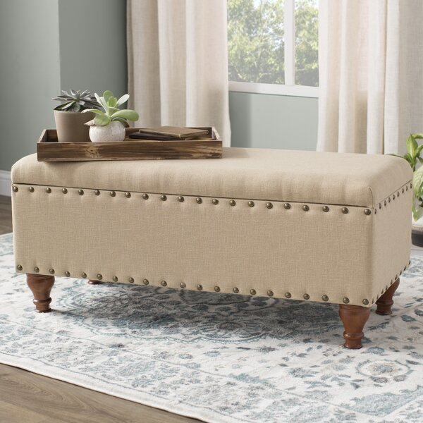 Latimer Upholstered Storage Bench By Three Posts
