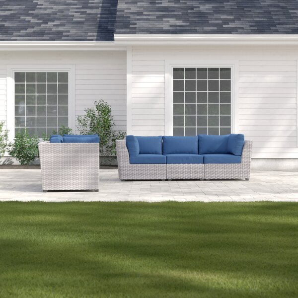 Merlyn 5 Piece Sofa Seating Group with Cushions by Sol 72 Outdoor