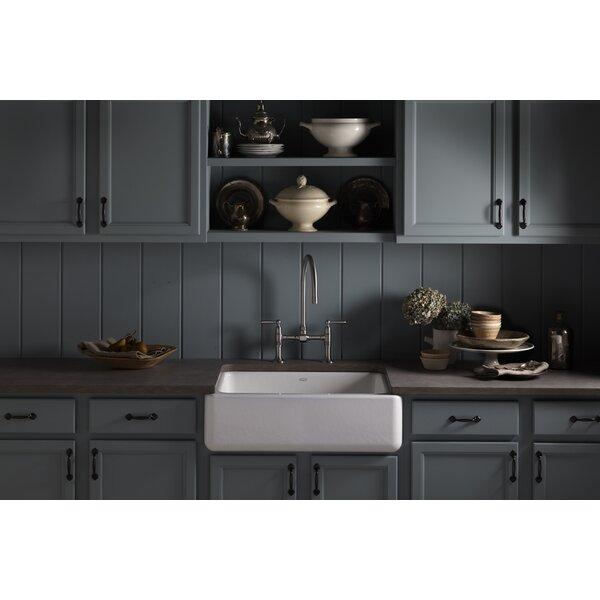 Whitehaven 29.69 L x 21.69 W Farmhouse Single Bowl Kitchen Sink by Kohler