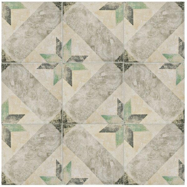 Herculanea 9.75 x 9.75 Porcelain Field Tile in Beige/Gray by EliteTile