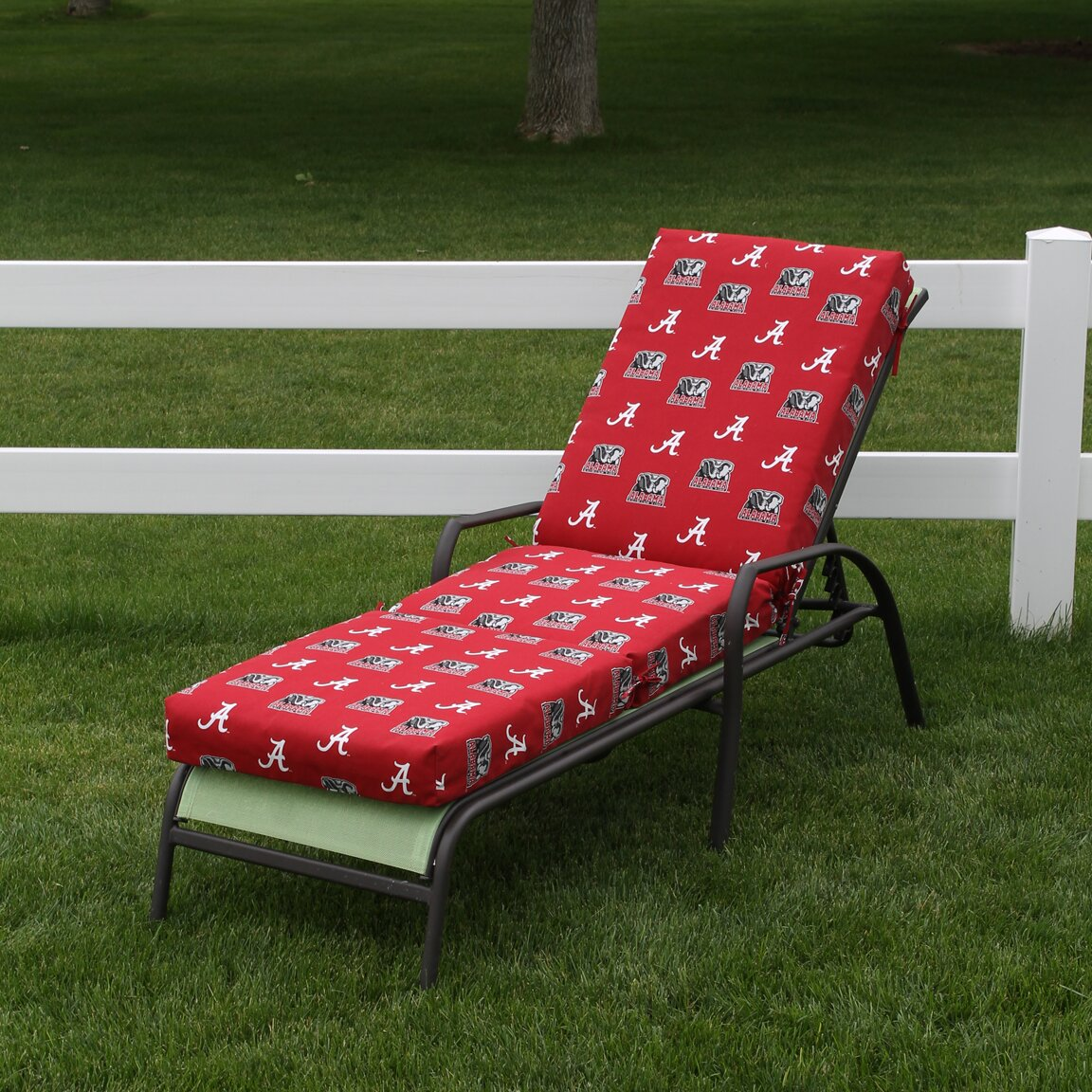 College covers ncaa alabama outdoor chaise lounge cushion for Chaise lounge covers waterproof