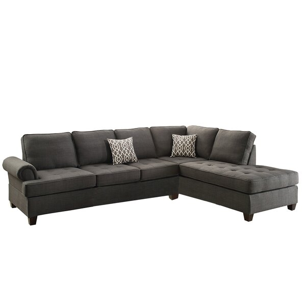 Get Premium Brylee Right Hand Facing Sectional by Winston Porter by Winston Porter