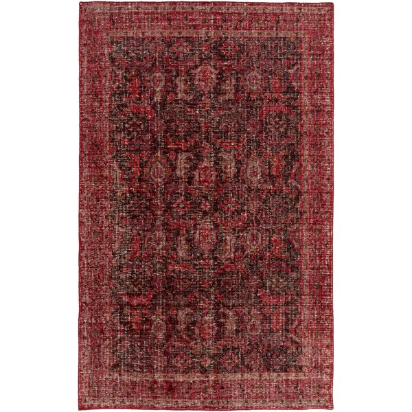 Heerhugowaard Hand-Knotted Red Area Rug by Bungalow Rose