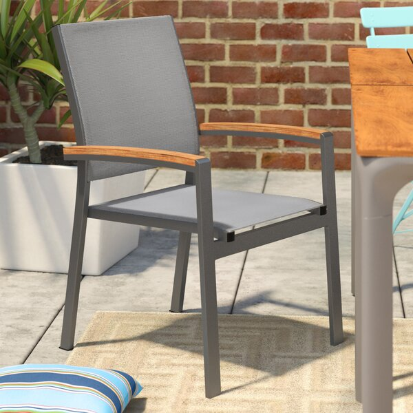 Krystal Contemporary Patio Dining Chair (Set of 4) by Brayden Studio