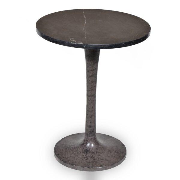 Paragon Marble Top Pedestal End Table By Latitude Run
