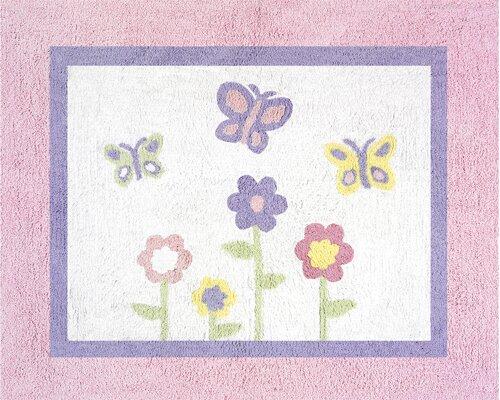 Butterfly Floor Pink & Purple Area Rug by Sweet Jojo Designs