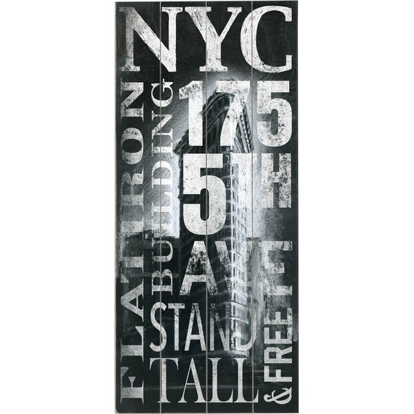 NYC Flatiron Vintage Advertisement Multi-Piece Image on Wood by Artehouse LLC