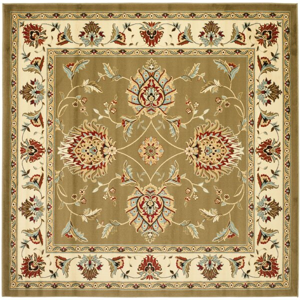 Ottis Green/Ivory Area Rug by Charlton Home