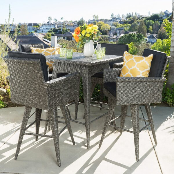 Furst 5 Piece Bar Height Dining Set by Wade Logan