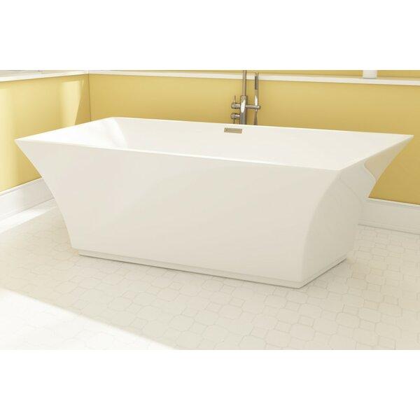 Aqua Eden Square Acrylic 67 x 30 Freestanding Soaking Tub by Kingston Brass