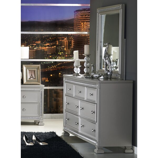 Lybarger 7 Drawer Dresser with Mirror by Rosdorf Park