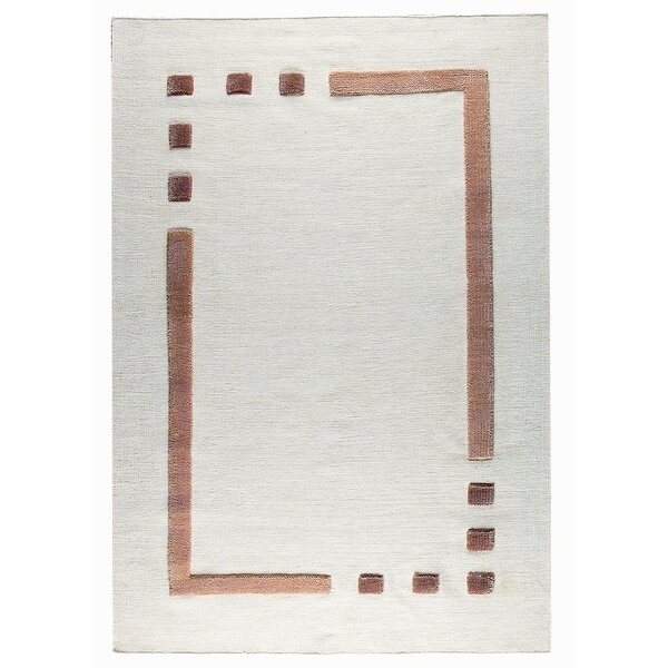 Caracas Hand-Woven Wool Brown/Beige Area Rug by M.A. Trading