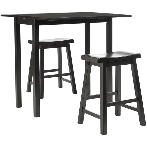 Elise Pub Table in Dark Espresso (Set of 3) by Safavieh