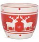Reindeer Print Dolomite Pot Planter by The Holiday Aisle