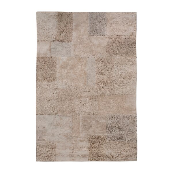 Kael Hand-Tufted Cotton Dark Beige Area Rug by Union Rustic