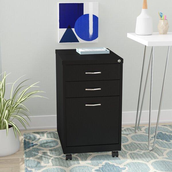 Harton 3-Drawer Mobile Vertical Filing Cabinet