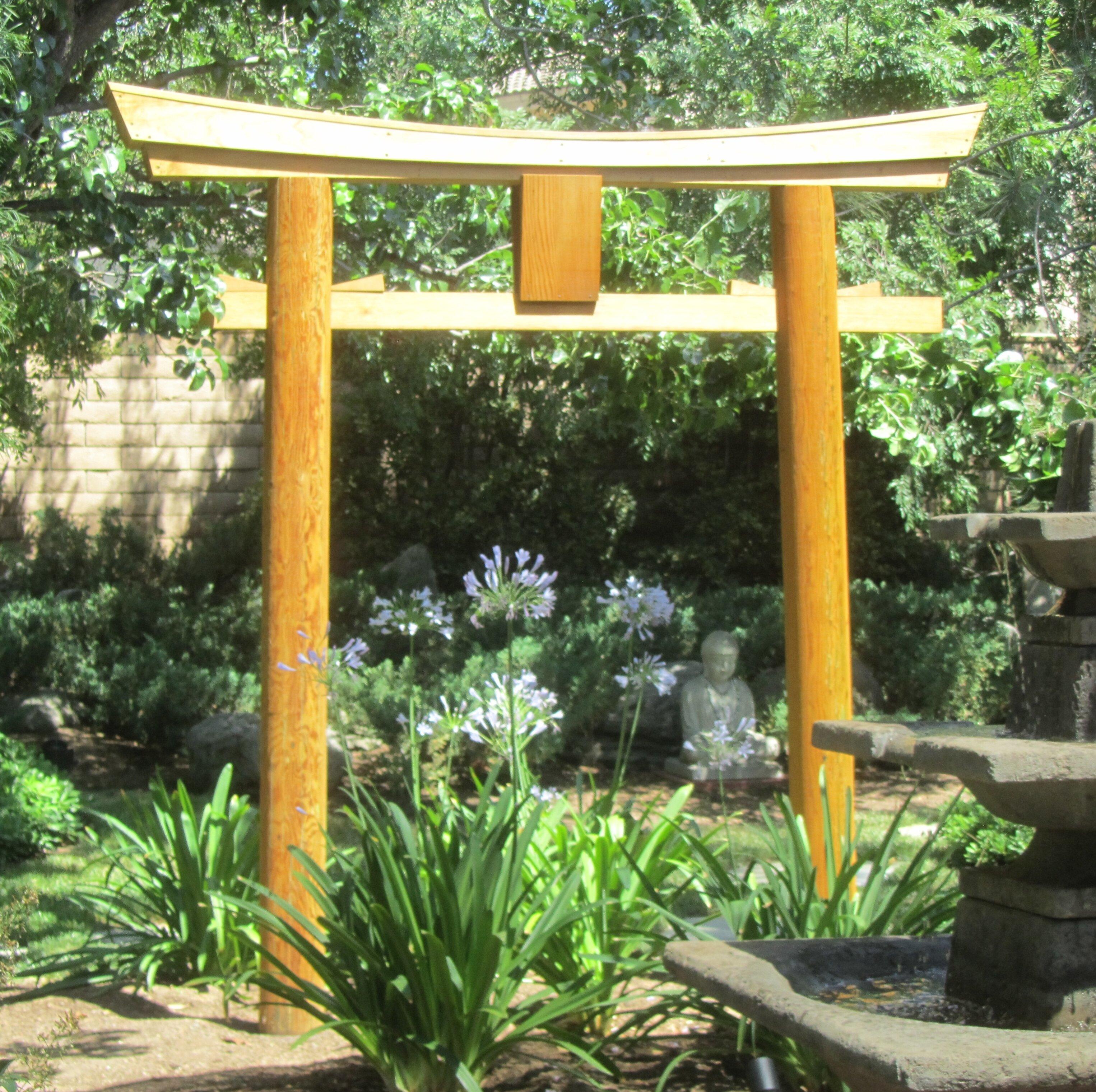 Samsgazebos Japanese Shinto Temple Myojin Style Wood Arbor Wayfair