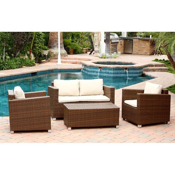 Deborah 4 Piece Sofa Set with Cushions by Mistana