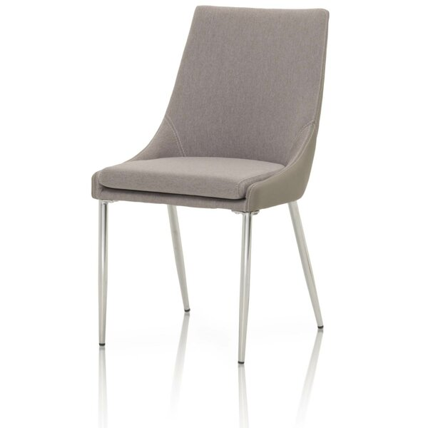 Waymon Fabric and Faux Leather Upholstered Dining Chair (Set of 2) by Orren Ellis