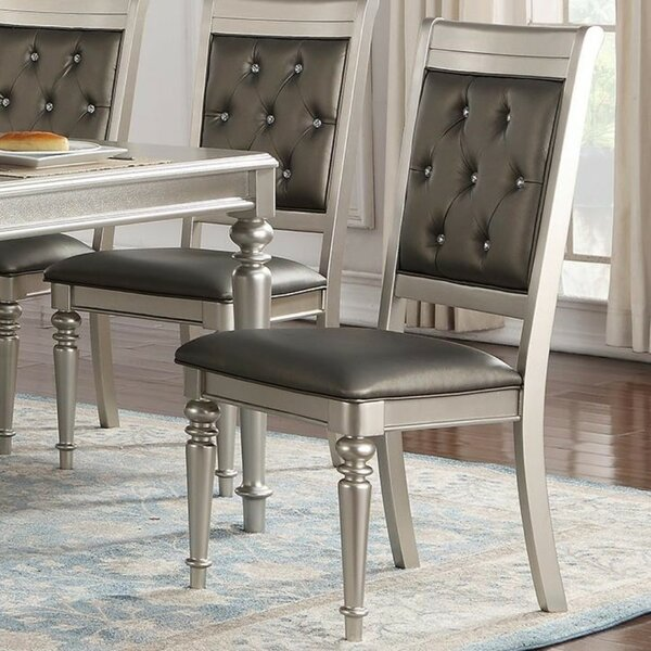 Donatella Tufted Upholstered Dining Chair (Set of 2) by House of Hampton