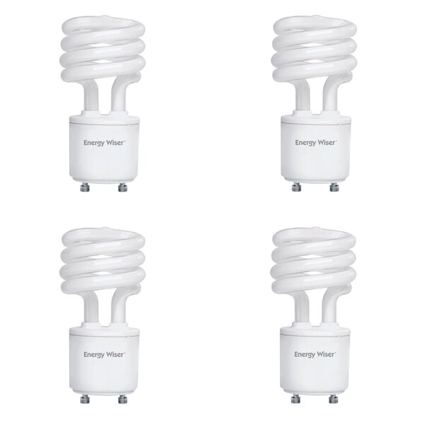 13W GU24 CFL Spiral Light Bulb Frosted (Set of 4) by Bulbrite Industries