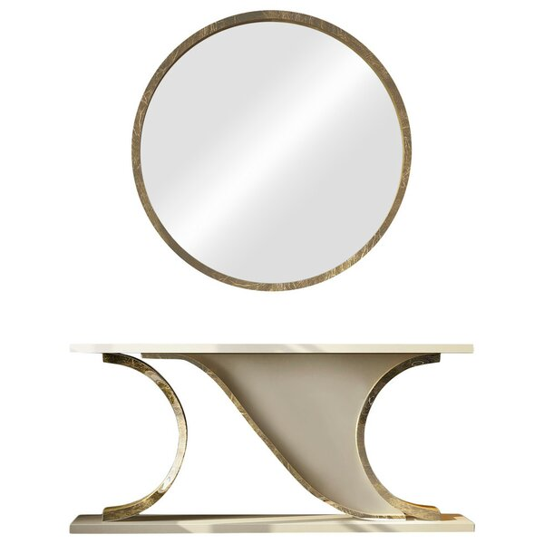 Laivai Solid Wood Console Table And Mirror Set By Everly Quinn