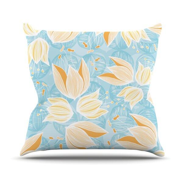 Giallo Outdoor Throw Pillow by East Urban Home