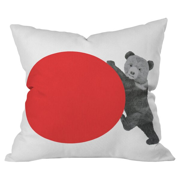 Bear Outdoor Throw Pillow by Deny Designs