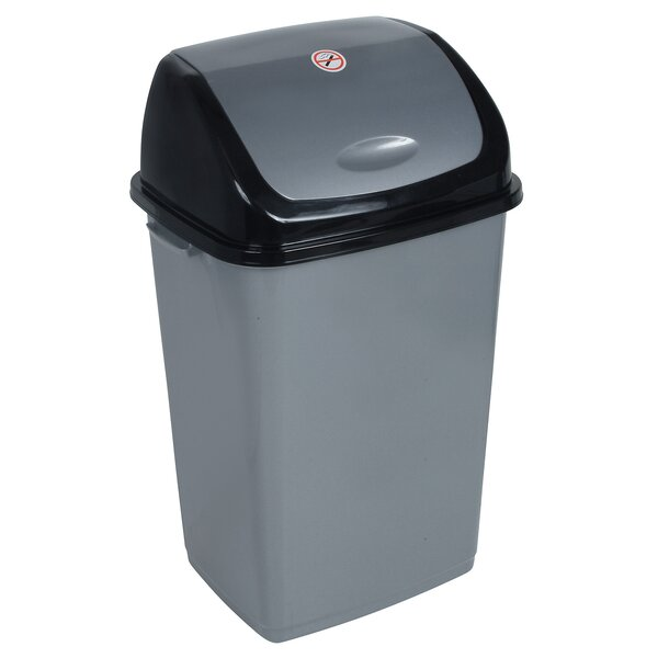 Plastic 13 Gallon Swing Top Trash Can by Superior Performance