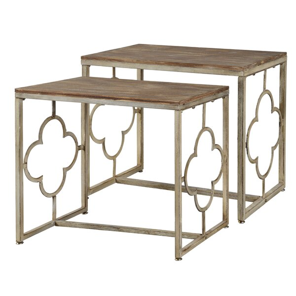Destiney 2 Piece Nesting Tables by One Allium Way One Allium Way®