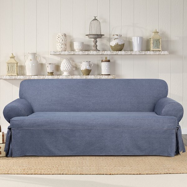 Authentic T-Cushion Sofa Slipcover by Sure Fit