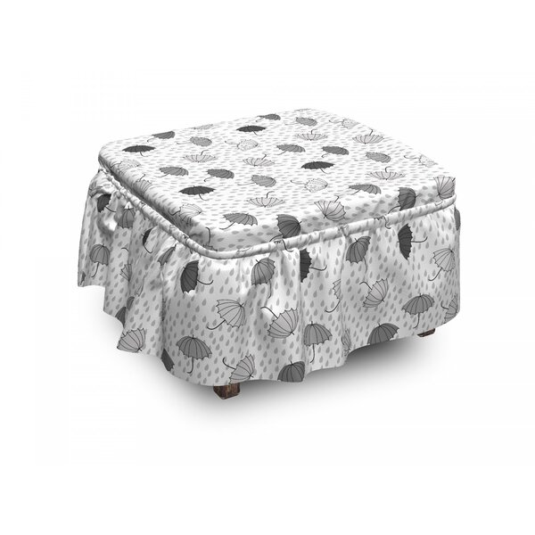 Umbrellas Ottoman Slipcover (Set Of 2) By East Urban Home