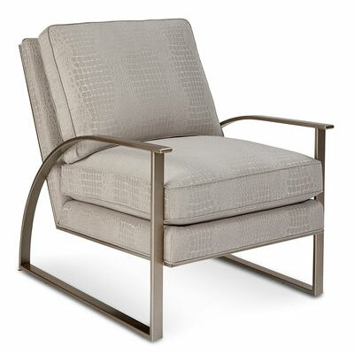 Alvina Brass Metal Armchair by Gracie Oaks