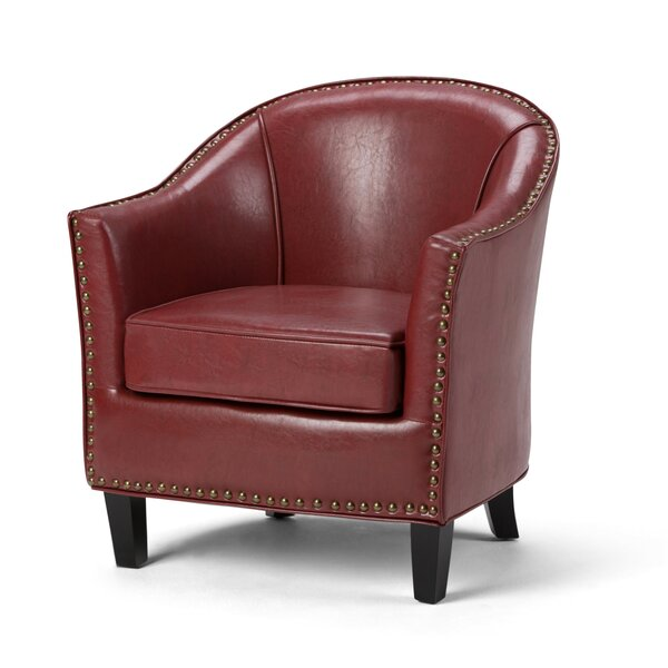 Burkart Barrel Chair By Charlton Home Great price